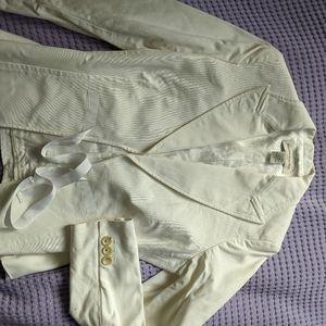 Banana Republic 100% Cotton White Blazer
